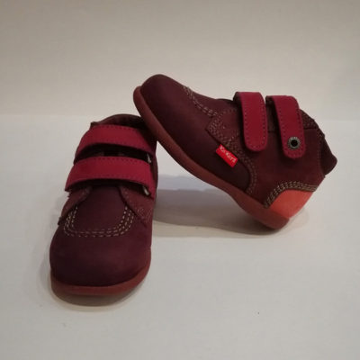 KICKERS BABYSCRATCH BORDEAUX ROSE