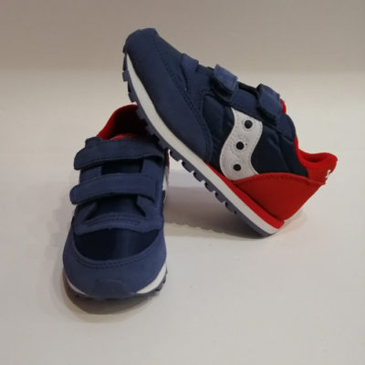 SAUCONY JAZZ DOUBLE HL BLUE/RED